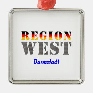 Region West - Darmstadt Silbernes Ornament