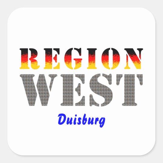 Region West - Duisburg Quadratischer Aufkleber