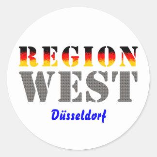 Region West - Düsseldorf Runder Aufkleber