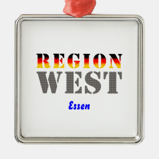 Region West - Essen Silbernes Ornament