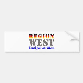 Region West - Frankfurt am Main Autoaufkleber