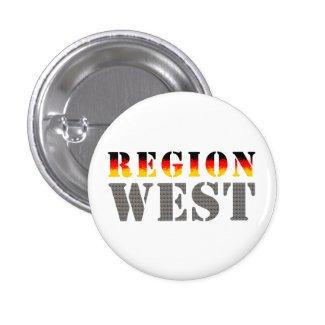 Region West - Westdeutschland | Button (weiß)