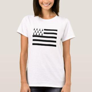 Regionsflagge Bretagne Bretagne Frankreich T-Shirt