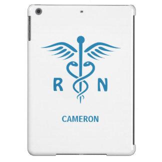 Registrierte Krankenschwester RN blauer Caduceus