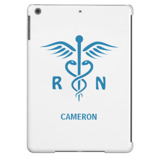 Registrierte Krankenschwester RN blauer Caduceus iPad Air Hülle