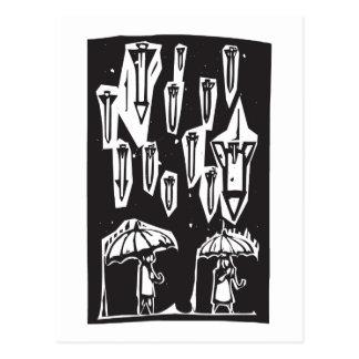 Regnen der Raketen Postkarte