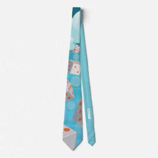 Regnen der Würfel Krawatte