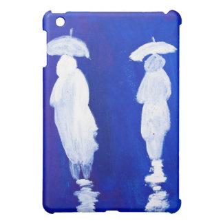 Regnen Sie die Wanderer, die im Acryl durch iPad Mini Hülle
