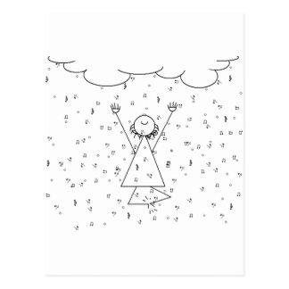 Regnen von Musik-gehobener Stimmung Postkarte