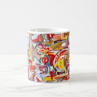 Regnerische Tag-Hand gemaltes abstraktes Kaffeetasse