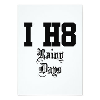 regnerische Tage 12,7 X 17,8 Cm Einladungskarte