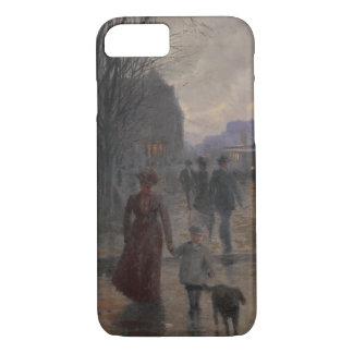 Regnerischer Abend auf Hennepin Allee, c.1902 iPhone 8/7 Hülle