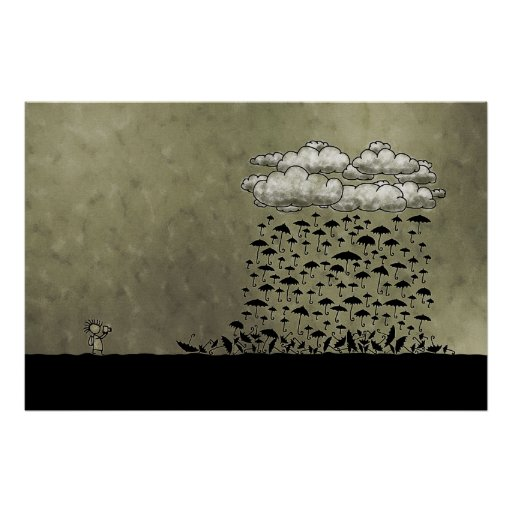 regnerischer Tag Plakate