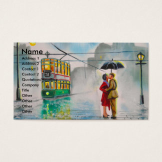regnerischer Tagesromantische Visitenkarte