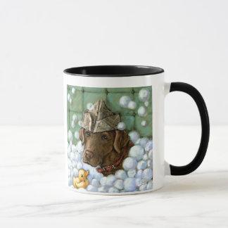 Reiben Sie einen Tollpatsch-Tollpatsch - einen Tasse