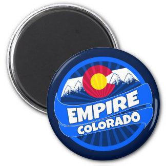 Reich-Colorado-Flagge barst ringsum Magneten Runder Magnet 5,1 Cm