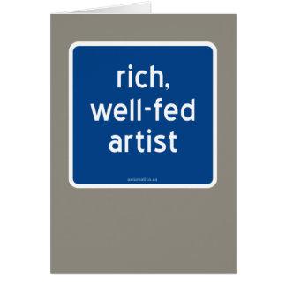 reich, Künstler gut-gefüttert Grußkarte