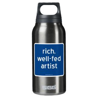 reich, Künstler gut-gefüttert Isolierte Flasche