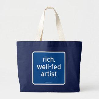 reich, Künstler gut-gefüttert Jumbo Stoffbeutel