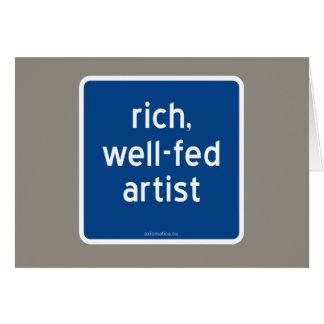 reich, Künstler gut-gefüttert Karte
