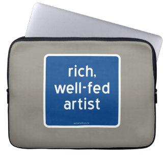 reich, Künstler gut-gefüttert Laptop Sleeve