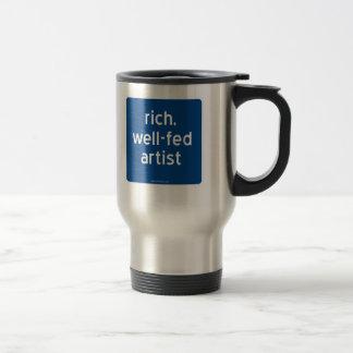 reich, Künstler gut-gefüttert Edelstahl Thermotasse