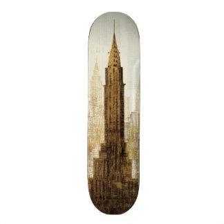 Reich-Staats-Gebäude NYC 18,1 Cm Old School Skateboard Deck