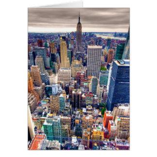 Reich-Staats-Gebäude und Midtown Manhattan Grußkarte
