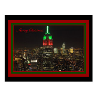 Reich-Staats-Gebäude-Weihnachtsfarben nachts Postkarte