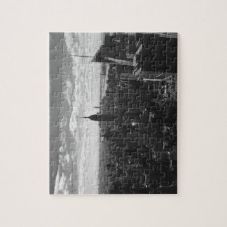 Reich-Staats-Puzzle B&W New York Manhattan Puzzle