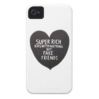 Reiche Kind- und Fakefreunde iPhone 4 Abdeckung iPhone 4 Case-Mate Hülle
