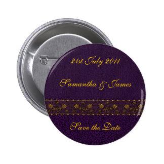 Reiche lila Hochzeit Runder Button 5,7 Cm