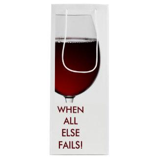 Reiche Rotweinphotographie mit kundengerechtem Geschenktüte Für Weinflaschen