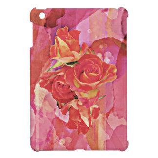 Reiche vibrierende Watercolor-Rose iPad Mini Hülle