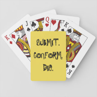 Reichen Sie ein, passen Sie sich an, die Spielkarten