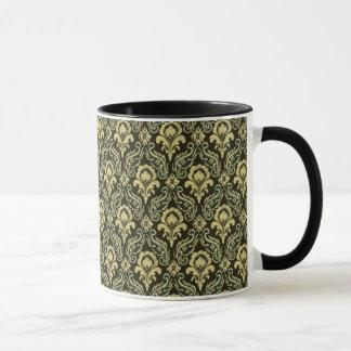 Reicher grüner Damast Tasse
