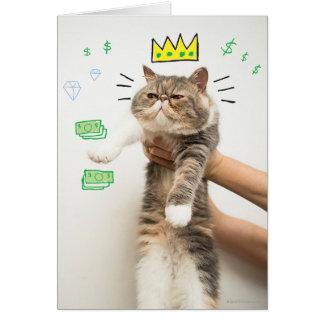 Reicher König Cat Karte