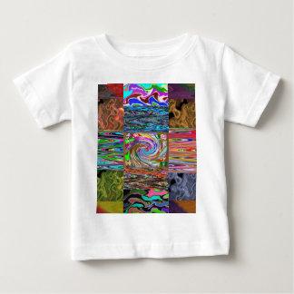 REICHES himmlisches Tanzen-Wellen-Collagen-Muster Baby T-shirt
