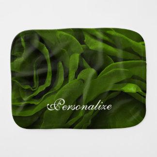 Reiches Rosen-Blumen-Foto des olivgrünen Grüns Baby Spucktuch
