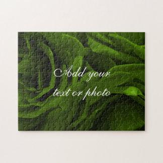 Reiches Rosen-Blumen-Foto des olivgrünen Grüns Puzzle