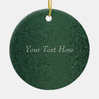 Reiches Smaragdgrün Keramik Ornament