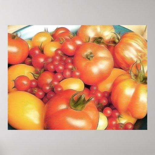 Reichliche Ernte - Heirloom-Tomaten Poster