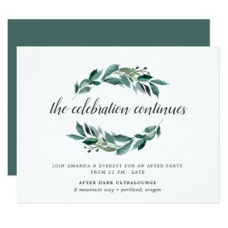 Reichliche Laub-Hochzeit nach Party Einladung