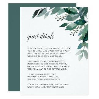 Reichliche Laub-Hochzeits-Gast-Einzelkarte Karte