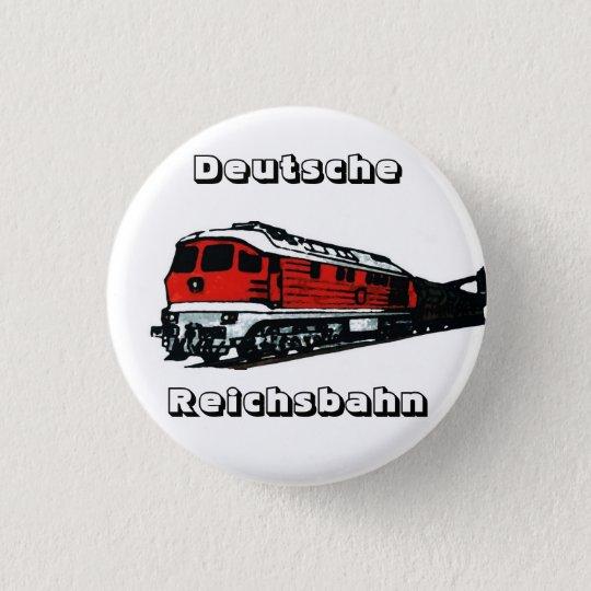 Reichsbahn Design Runder Button 2,5 Cm