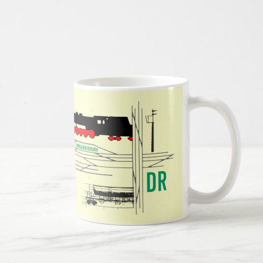 Reichsbahnreklame DDR Kaffeetasse