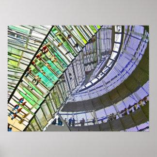 Reichstag/der Bundestag, Innenraum, Berlin (r41cps Plakatdruck