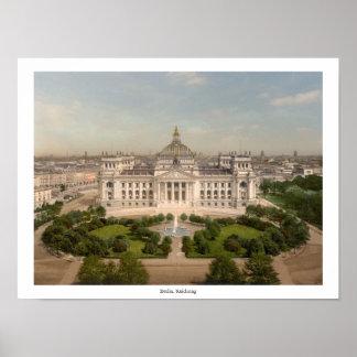 Reichstag Gebäude, Berlin Deutschland Poster