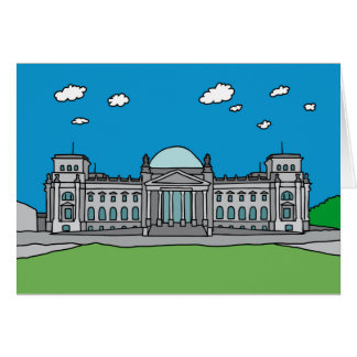 Reichstag Gebäude in Berlin Grußkarte