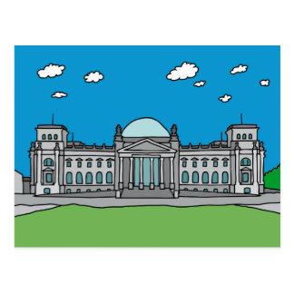 Reichstag Gebäude in Berlin Postkarte